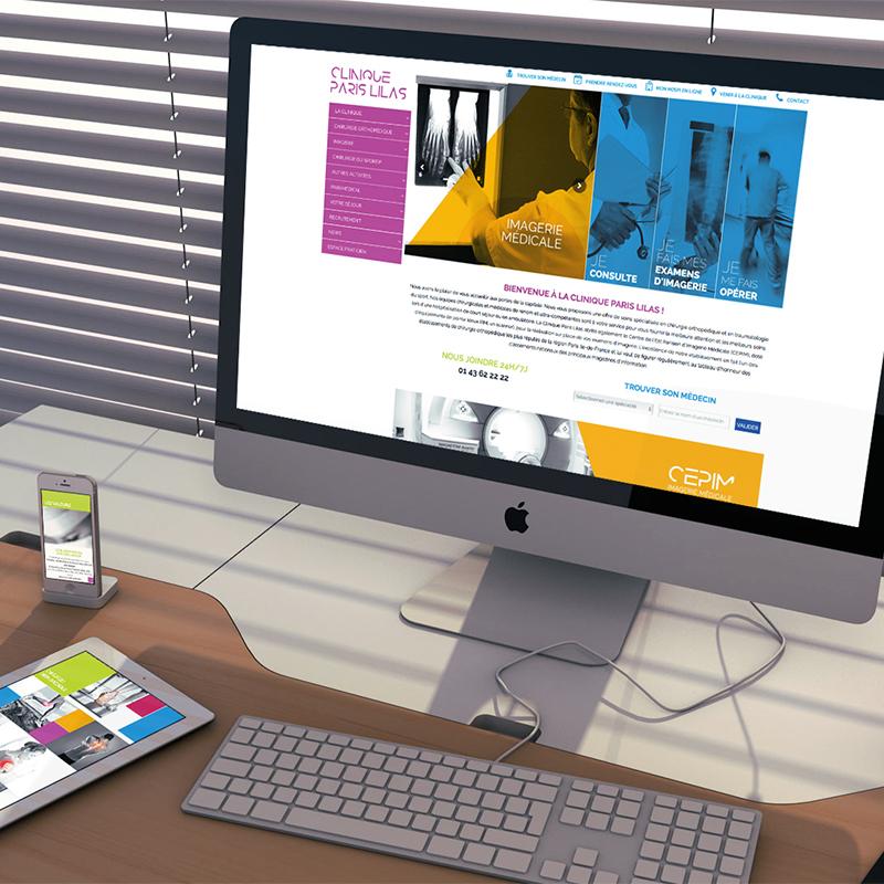 Réalisation Site web Clinique Paris Lilas - Bridge Communication