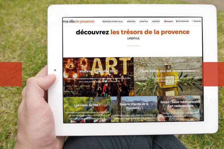 ma villa en provence - site internet