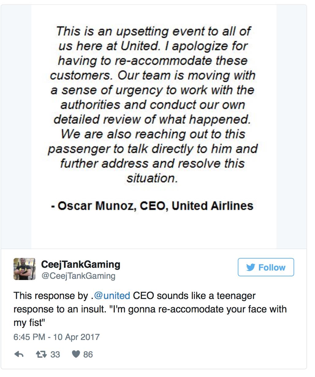 Communication de crise United Airlines (13)