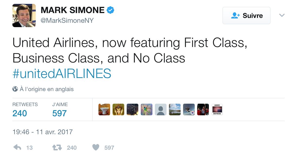 Communication de crise United Airlines