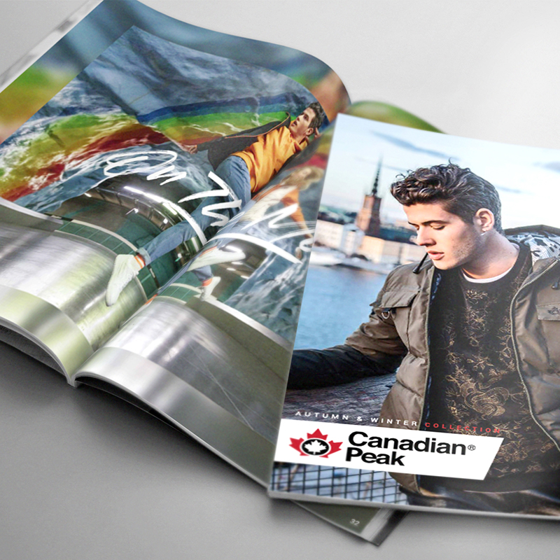 Book de marque Canadian Peak - Bridge Communication
