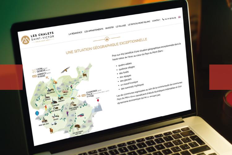 Webmarketing Chalets Saint-Victor l Bridge Communication