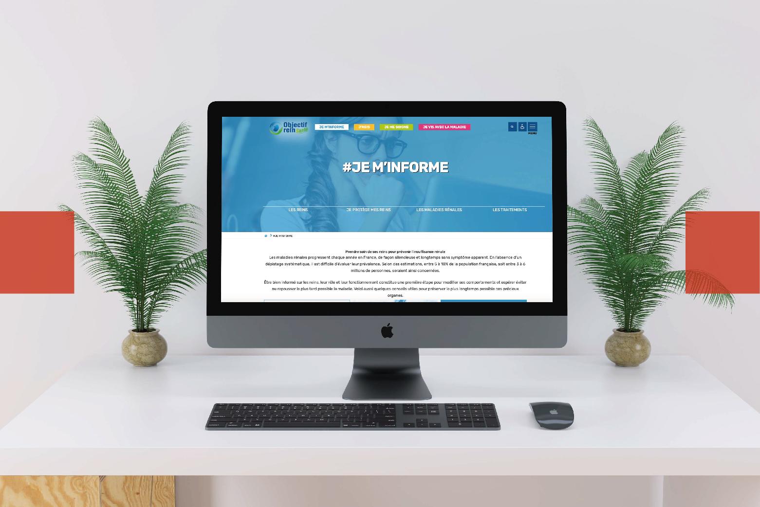 Création de site web Objectif Rein Santé l Bridge Communication